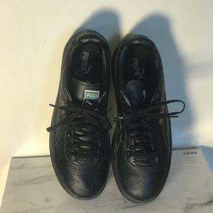 Puma Black Leather Heritage Sneaker